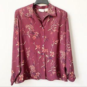 Vintage Christie & Jill Floral Button Down Top